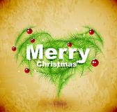 Christmas love heart — Stock Vector