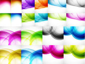 Wave color backgrounds — Stockvektor