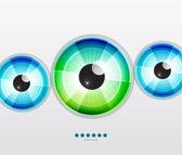 Abstract techno eye. Vector illustration — Stock Vector