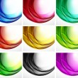 Set of swirl backgrounds - Stock Vector