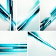 Set of straight lines abstract vector backgrounds — Stock Vector