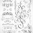 Vector set of calligraphic design elements — Stock Vector