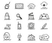 Web hand drawn icons — Stock Vector