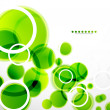 Abstract shapes vector background: green bubbles - Stock vektor