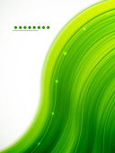 Light glittering green wave background — ストックベクタ