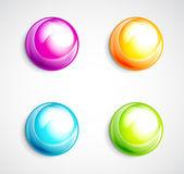 カラフルなバブル ボタン — ストックベクタ