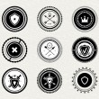Vintage retro protect badges and labels - Image vectorielle