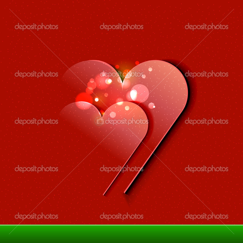 Vector Valentine's Day Card background — Stock Vector #18548873