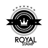 Black retro vintage label | tag | badge | royal stamp — Vector de stock