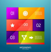 Infographic banner design elements, numbered lists — Stock Vector