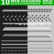 Stock Vector: Set of 10 web page dividers