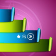 Colorful scroll ribbons infographic design — Imagen vectorial
