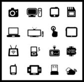 Vector set of electronic and mobile devices — Stock Vector
