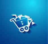Go shopping concept. Vector EPS10 illustration — Stock Vector