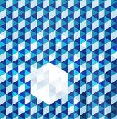 Blue modern geometric design template — Stock Vector