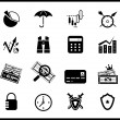 Finance protection icon set - Stok Vektör