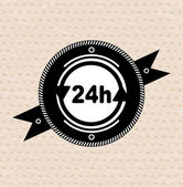 Vintage retro label | tag | badge : 24 hours icon — Wektor stockowy