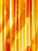 Orange abstract vertical lines and boke effect — Vector de stock