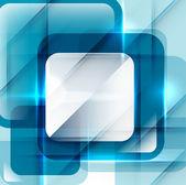 Blue modern geometric absract background — Stock Vector