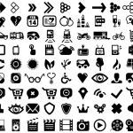 Big set of black universal web icons — Stock Vector