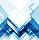 Fondo abstracto geométrico moderno azul — Vector de stock