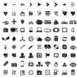 Royalty-Free Stock Vector Image: Big set of black universal web icons