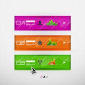 Vector infographic banner design template — Stock Vector