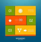 Infographic banner design elements — Stock Vector