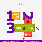 Numbered banners | infographics — Stockvektor