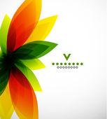 Kolorowy kwiat streszczenie szablon projektu — Wektor stockowy