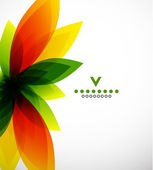 炫彩抽象花卉设计模板 — 图库矢量图片