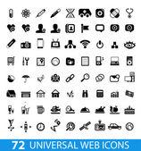 Set of 72 universal web icons — Stock Vector
