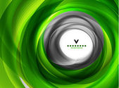 Green eco swirl abstract design template — Vector de stock