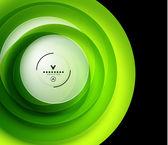绿色生态旋流抽象设计模板 — 图库矢量图片