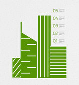 Real estate infographics template in retro style — Stock Vector