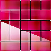 Blankt glas ytan geometriska moderna mall — Stockvektor