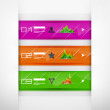 Glass infographics banners - Stock Vector