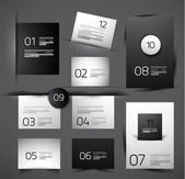 Set of modern web shadow design templates — Stock Vector