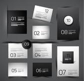 Set of modern web shadow design templates — Stock Vector