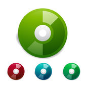 Colorful cd icon set. Vector — Stock Vector
