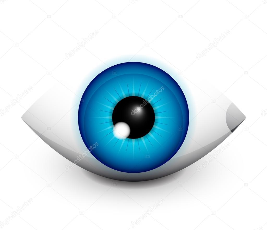 高科技眼概念图标设计
