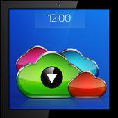 Mobile cloud connection application concept — Stock Vector