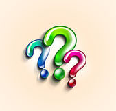 Colorful question marks design template — Stock Vector