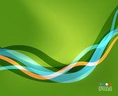 Líneas de onda colorido transparente con efectos de luz — Vector de stock