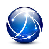 Vector communication globe icon concept — Stock Vector