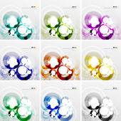 Colorful circle design templates — Stock Vector