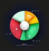 Radial diagram design template — Stockvektor