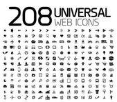 Black icon set : web, internet, business — Stock Vector