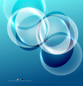 Shiny flowing abstraction — Stock Vector