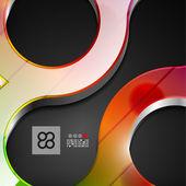 Diseño geométrico abstracto 3d — Vector de stock